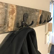 The Coat Rack Oak Wine Stave Coat Rack TerraMai PDX 99