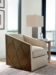 Leather Swivel Chairs For Living Room Zavala Sullivan Leather Swivel Chair Lexington Home Brands