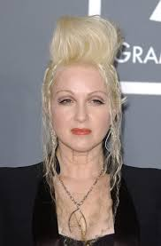 Cyndi Lauper. For a girl who likes to have fun, we suggest singer Cyndi gets her hair treated before she heads 'into the nightlife' or even better the day ... - Cyndi-Lauper-quiff
