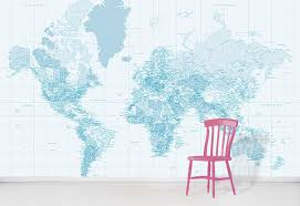 pastel blue world map wallpaper world
