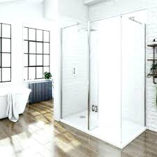 showers aqua glass shower stall bathtub wall set