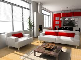 red and white furniture. Modern Red Living Rooms And White Furniture