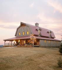 Farm home that is shaped like a barn!