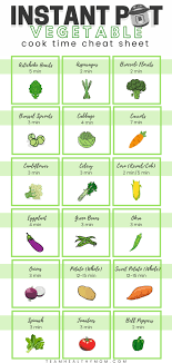 Vegetable Cooking Time Chart The Ultimate Guide To Instant Pot Cooking Times Free Pdf