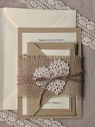 Burlap And Lace Wedding Invitations Pin By Louise Van Den Heever On My Wedding Ideas Pinterest