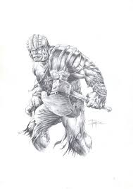 Select from 35450 printable coloring pages of cartoons, animals, nature, bible and many more. Juan Antonio Abad Juapi Original Pencil Drawing Hulk Gladiator Thor Ragnarok W B Tekenpotlood Hulk