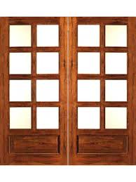 rustic 8 lite p b french solid wood 1 panel ig glass double door by aaw french