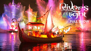 Disney World Water Light Show Rivers Of Light Full Opening Night Show At Disneys Animal Kingdom Theme Park Walt Disney World