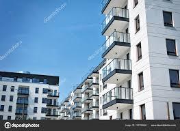 Modern Apartment Buildings Exteriors Stock Photo Grand
