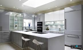 High Gloss Kitchen Doors Custom Glass Door Cabinetry In Modern High Gloss Kitchen Design