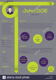 Modern Resume Cv Curriculum Vitae Template Design With Curly