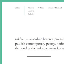 wildness website 20172017 cover letter for poetry submission