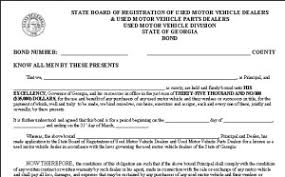 surety bond form georgia dealer bond georgia used car dealer license bonding aci