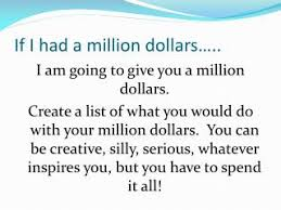 being funny is tough if i had a million dollars essay back in 2005 a student in england d alex tew launched the million