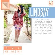 Lularoe Lindsay Sizing Chart Spring 2018 Lularoe Lindsay