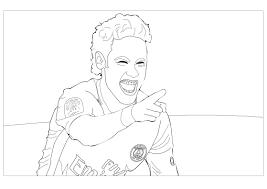 Coloriage Gratuit Neymar L