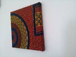 8x8 fabric covered wall art squarerecord disk by tamiahdesigns 15 20 on african cloth wall art with 8x8 fabric covered wall art squarerecord disk design orange african