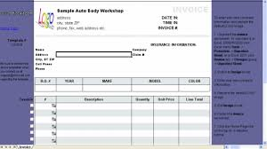 Free Invoice Maker Download Interesting Auto Repair Invoice Template Free Download And Software Reviews