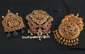 antique gold pendants