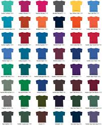 Tshirts On You Color Selections