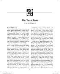 the bean trees sacred heart high school