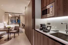 Captivating Oakwood Premier OUE Singapore: Studio Apartment   Kitchenette