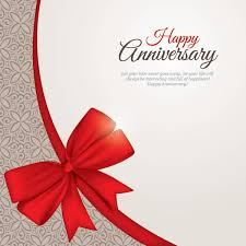 Free Vectors Floral Pattern Anniversary Card With Ribbon Dryicons