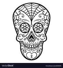 Day Of The Dead Skull Designs Mexican Sugar Skull Day Of The Dead Dia De Los