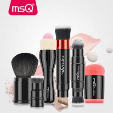 details about 6pcs retractable double ended makeup brushes sets foundation powder brush kits