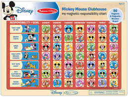 My Magnetic Responsibility Chart Amazon Com Melissa Doug Disney Mickey Mouse Clubhouse My