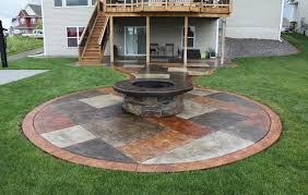 concrete patio designs round life on the move attractive rock tx poured