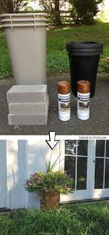 DIY Large Outdoor Planters for a bargain! -- 29 Cool Spray