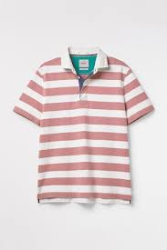 white stuff pink pitchside stripe rugby t shirt