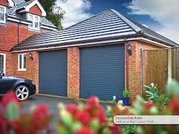 seceuroglide classic garage roller doors with remote control operation and a modern anthracite powder coated paint