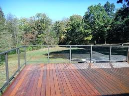 glass deck railing balcony systems ideas home depot cost