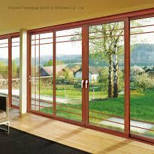 china decorative double glass aluminum profile exterior balcony sliding glass door china sliding door glass door
