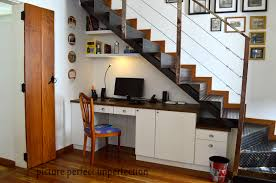 office under stairs. A Functional Office Tucked Under The Stairs R