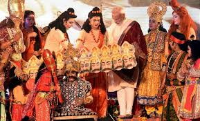 Image result for images of pm modi in ram leela