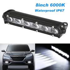 Ebay India Led Lights Details About 8inch 60w Spot Beam Slim Led Work Light Bar Single Row Car Suv Off Road Lamps