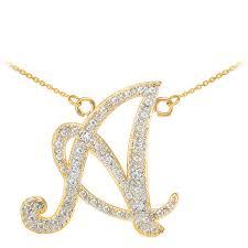 gb59856y 623 instock s goldboutique com diamond script letter a pendant necklace in gold gb59856y gold boutique