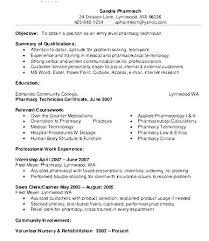 Pharmacy Technician Resume Objective Enchanting Pharmacy Technician Resume Sample Sample Professional Resume
