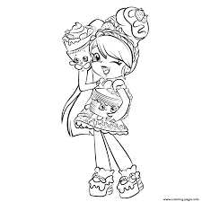 Cute Girl Shopkins Shoppies Coloring Pages Printable