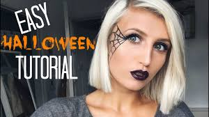easy last minute makeup tutorial spider web
