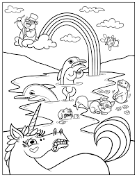 Best free coloring pages for kids & adults to print or color online as disney, frozen, alphabet and more printable coloring book. Free Printable Rainbow Coloring Pages For Kids