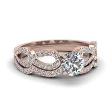 infinity diamond wedding band. round diamond infinity loop bridal set in fdens3040ro nl rg 30 wedding band