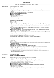 Driver Resume Example Valet Driver Resume Samples Velvet Jobs 20