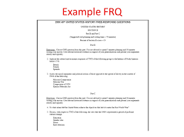 essay format dbq frq importance dbq % of your ap test grade  4 example frq