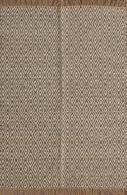 rugsville diamond pattern beige grey jute kilims 13630 rug 13630