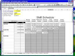 excel for scheduling employee shift schedule gerardradio co