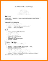 Resume Sample For Cashier Position Restaurant Objective Check Cash
